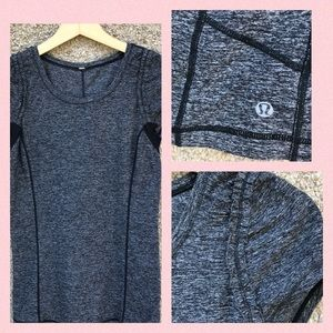 Lululemon Run Shirt Ruffle Full Tilt Short Sleeve